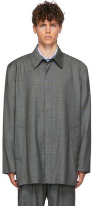 Balenciaga Grey Check Tailored Jacket