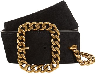 Saint Laurent 5cm Chain Suede Belt