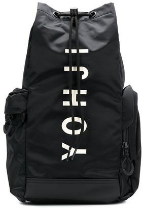 Y-3 logo print drawstring backpack