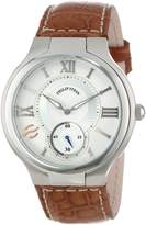 Philip Stein Teslar Men's 42-SIL-ASBR Stainless Steel Watch with Leather Band