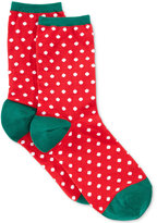 Hot Sox Women's Small Polka Dots Holiday Socks
