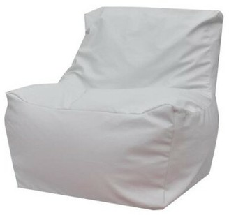 Red Barrel Studio Standard Faux Leather Bean Bag Chair & Lounger Upholstery Color: White
