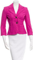 Just Cavalli Notch-Lapel Cuffed Blazer