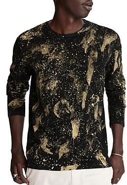 John Varvatos Phoenix Paint-Splatter Sweater