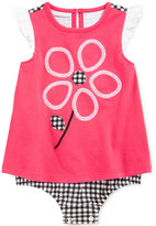 First Impressions Gingham Flower Skirted Romper, Baby Girls (0-24 months), Created for Macy's