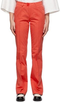 Ader Error Red Slit Cuff Trousers