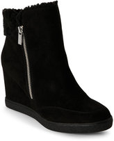 Unisa Black Maisa Sherpa-Trimmed Wedge Boots