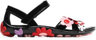 Prada Floral-appliqued Patent-leather Sandals
