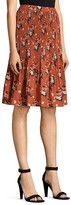AllSaints Floral Crinkle Pleat Skirt