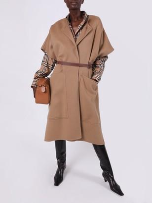 Burberry Camel Belted Coat