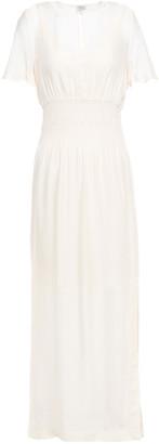 Baum und Pferdgarten Aberdeen Layered Shirred Seersucker Maxi Dress