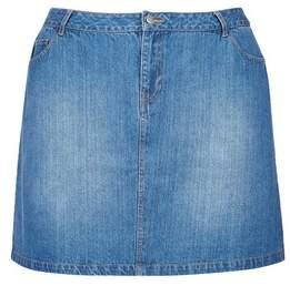 Dorothy Perkins Womens **Dp Curve Midwash Denim Skirt