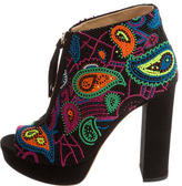 Jerome C. Rousseau Coco Beaded Booties w/ Tags