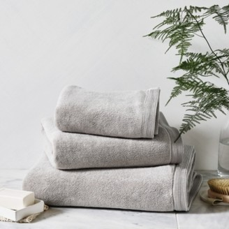The White Company Ultimate Turkish Cotton Face Cloth, Pearl Grey, Face Cloth