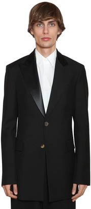 Loewe 2bt Wool Tuxedo Jacket W/ Satin