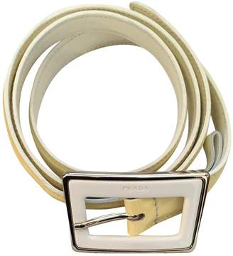 Prada \N White Patent leather Belts