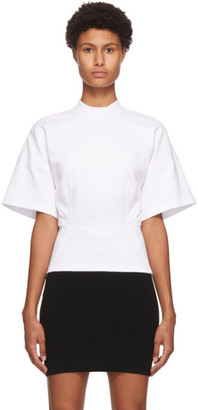 Alexander Wang White Sculpted Short Sleeve T-Shirt
