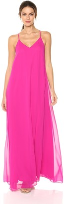 Nicole Miller Women's V-Neck Spaghetti Strap Long Maxi Party Dress
