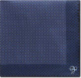 Canali Dotted Blocks Silk Pocket Square