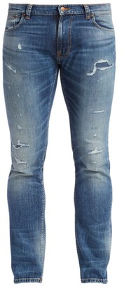Nudie Jeans Thin Finn Slim-Fit Distressed Jeans