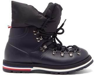 Moncler Inaya Removable Quilted-insert Rubber Boots - Womens - Black