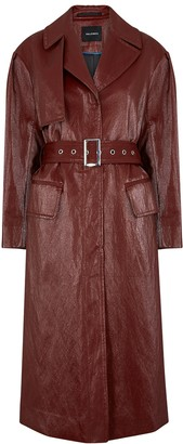 Palones Croydon burgundy faux leather trench coat