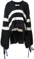 Sonia Rykiel striped oversized sweater - women - Cotton/Nylon - M