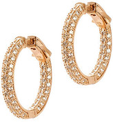 CZ by Kenneth Jay Lane - Pave Inside Out Diamond Simulant Mini Hoops