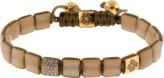 SHAMBALLA JEWELS Peach Moonstone Lock Bracelet
