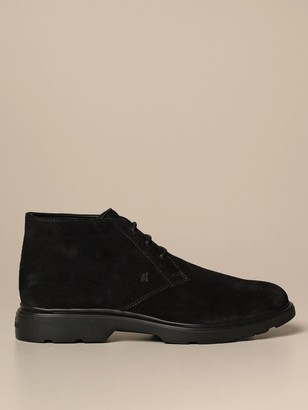 Hogan H393 Route Suede Ankle Boot With Memory Sole