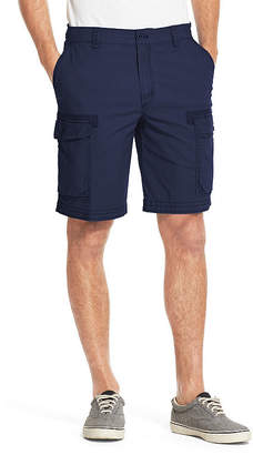 Izod Saltwater Dockside Pigment Dye Cargo Mens Mid Rise Stretch Cargo Short Big and Tall