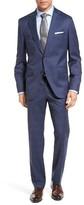 HUGO Men's Boss Johnstons/lenon Trim Fit Plaid Wool Suit