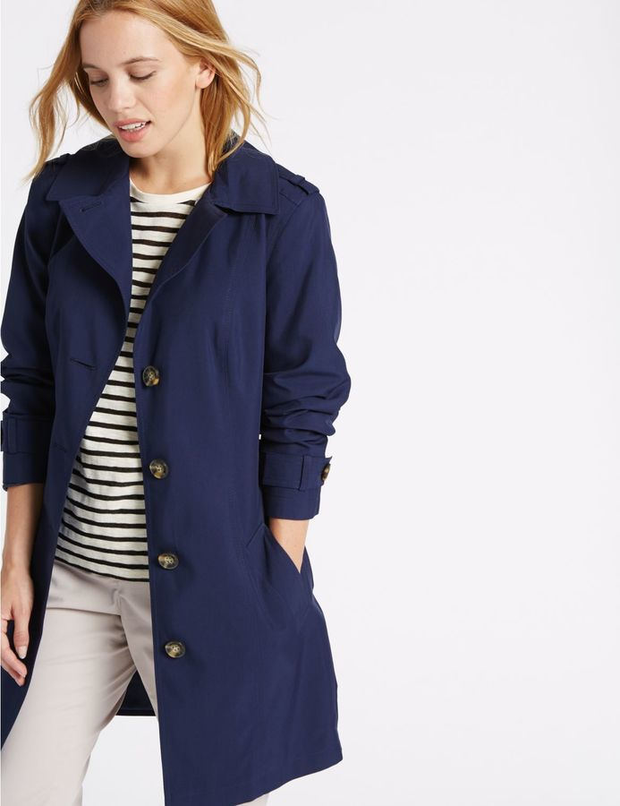Marks and Spencer PETITE Trench Coat with StormwearTM