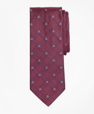 Brooks Brothers Glen Plaid with Fleece Tie