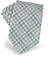 Forzieri Pied de Poule Woven Silk Tie