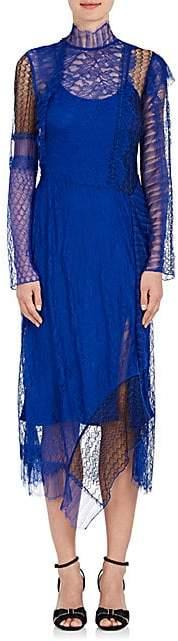 3.1 Phillip Lim Women's Patchwork Lace Dress - Electric Blu