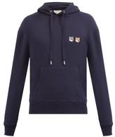 MAISON KITSUNÉ Double Fox Head-patch Cotton Hooded Sweatshirt - Mens - Navy