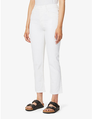 Mother The Tomcat slim-fit straight high-rise jeans