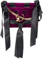J.W.Anderson Purple Bow Pierce Mini Velvet Cross Body Bag