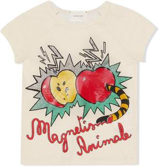 Gucci Kids apple and worm print T-shirt