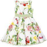 MonnaLisa Floral Printed Cotton Poplin Dress