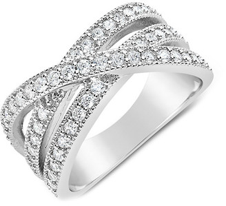 Sterling Forever Silver Cz Ring