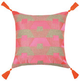Trina Turk 20x20 Torrance Neon Embroidered Pillow - Fuchsia