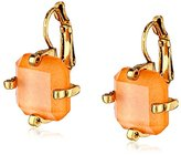 Erickson Beamon Rocks Leverback Peach Drop Earrings