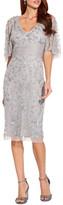 Adrianna Papell Beaded Cape Sleeve Dress