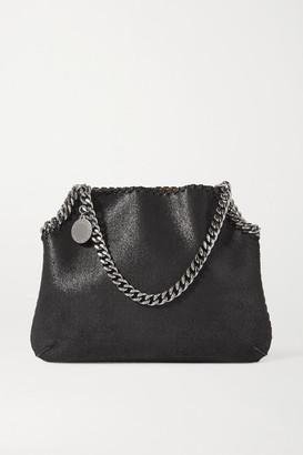 Stella McCartney The Falabella Medium Vegetarian Brushed-leather Shoulder Bag - Black