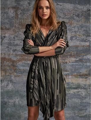 M&Co Sonder Studio foil pleat dress