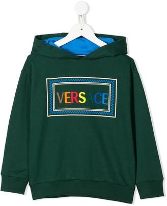 Versace Logo-Print Long-Sleeved Hoodie