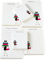 Horchow Shopping Girl Notepad Set