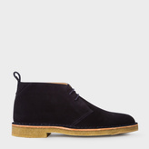 Paul Smith Men's Navy Suede 'Wilf' Desert Boots